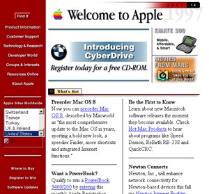 1996-2006 - Ten Years of Apple.com w/screenshots