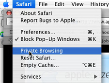 OSX Quick Tip: Private Browsing in Safari