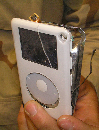 Ipod Saves Solider's Life