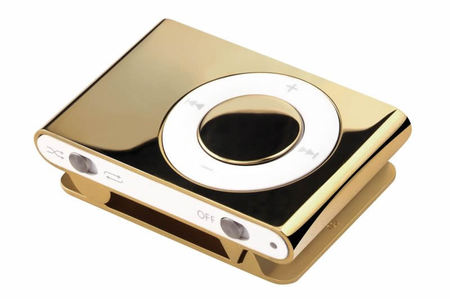 Want to blow $19 Grand on something stupid?  How about a Solid Gold iPod Shuffle?
