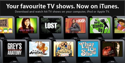 TV Shows now in iTunes for UK Users