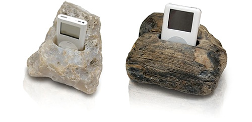 iStones – you guessed it, iPod Docks made of Stone