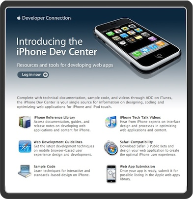 iPhone Dev Center is Live! (and it's all about web apps, baby!)