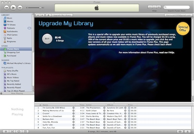 Apple still wants to charge for iTunes Plus upgrades