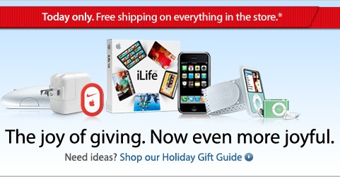 Apple Store – Free Shipping – Today Only