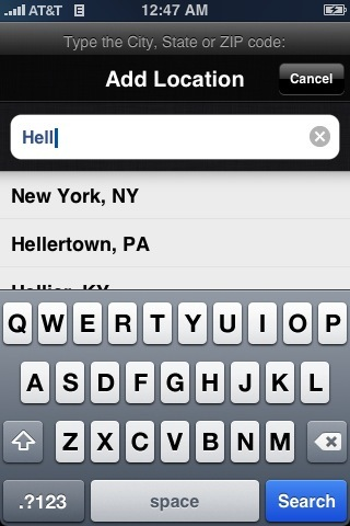 "New York is ""Hell"" according to the iPhone"