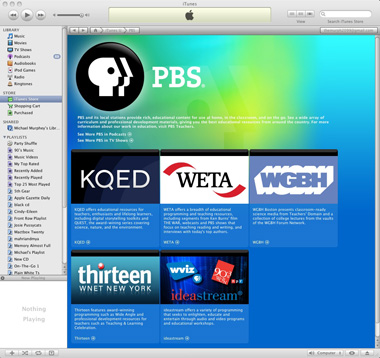 PBS programming now on iTunes U