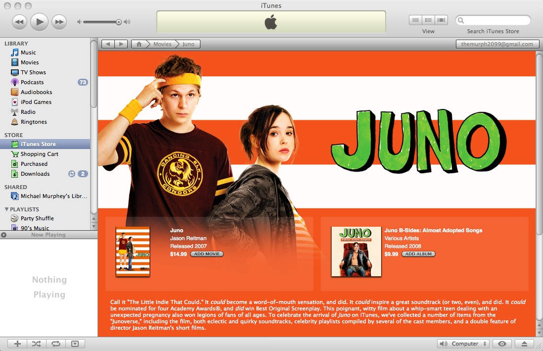 You can buy 'Juno' in iTunes – but why would you?