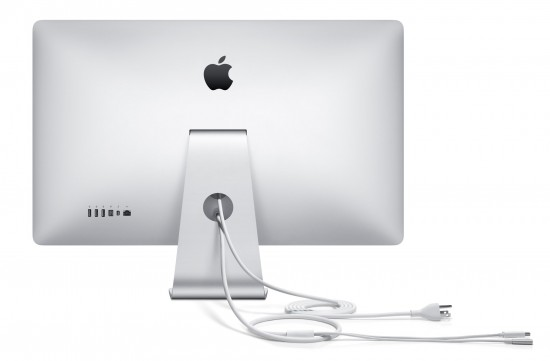 Thunderbolt Display: rear view