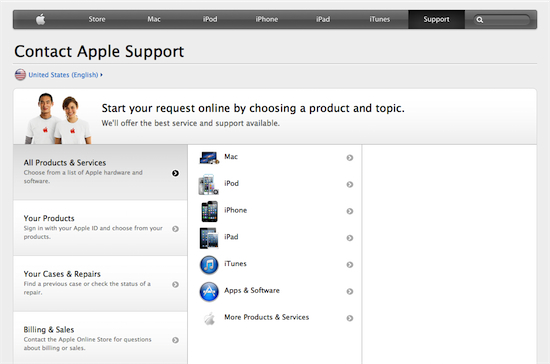 Apple Itunes Support Email Address
