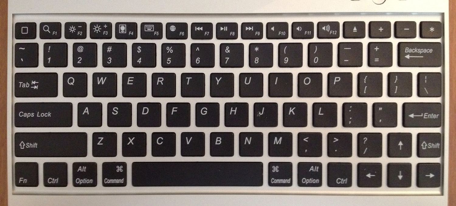 The Bluetooth Keyboard Case's keys
