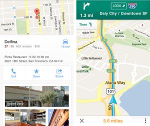 flat design google maps