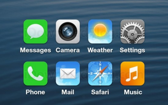 first leaked screenshot of iOS 7
