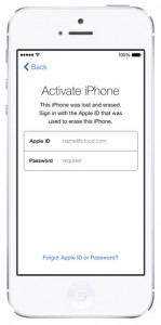 iOS 7 screenshots activation