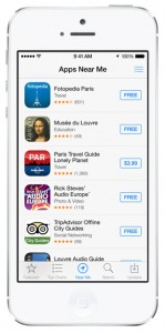 iOS 7 screenshots app store nearby