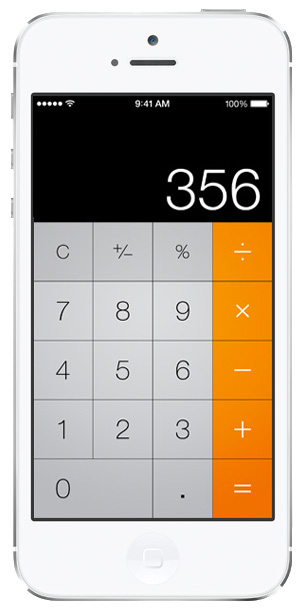 iOS 7 screenshots calculator