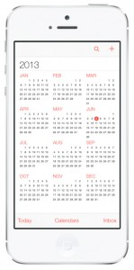 iOS 7 screenshots calendar year