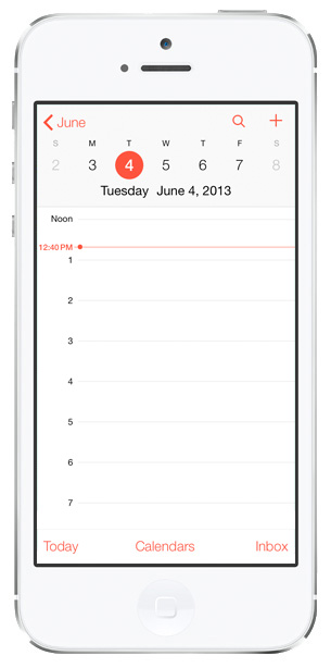 iOS 7 Calendar: Week/Day