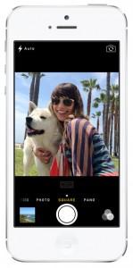 iOS 7 screenshots camera square