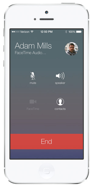 ios 7 facetime audio mode hidden features