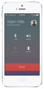 iOS 7 screenshots facetime audio