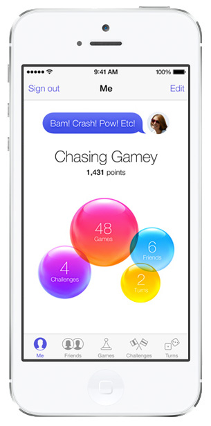 iOS 7 screenshots gamecenter