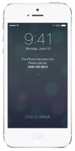 iOS 7 screenshots lock screen lost mode