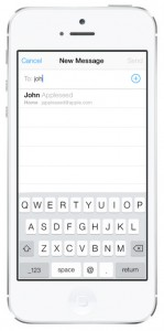 iOS 7 Mail: Compose