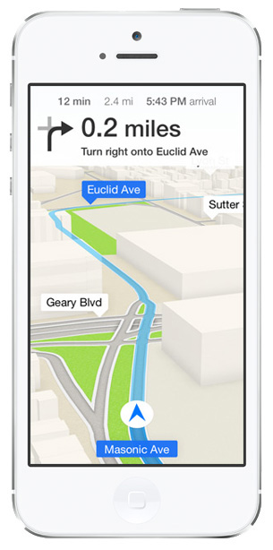 iOS 7 Maps: Turn-by-Turn Directions