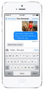 iOS 7 screenshots messages