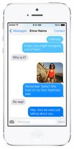 iOS 7 screenshots messages