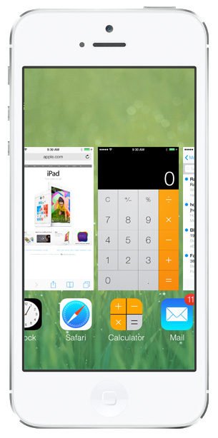 iOS 7 screenshots multitasking