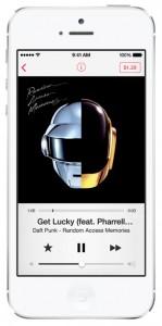 iOS 7 screenshots music player