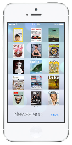 iOS 7 screenshots newsstand