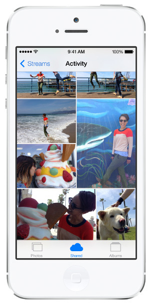iOS 7 screenshots photo streams