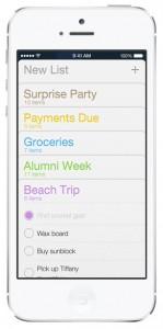 iOS 7 screenshots reminders