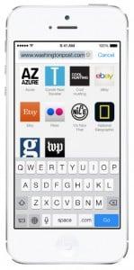 iOS 7 screenshots safari bookmarks