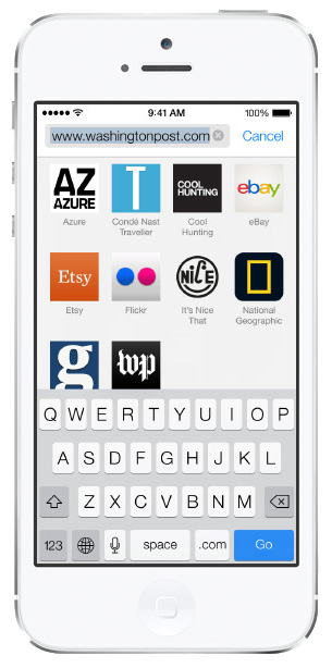 iOS 7 screenshots safari bookmarks