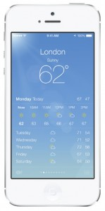 iOS 7 screenshots weather