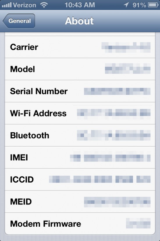 iPhone Identity screenshot