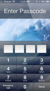 screenshot passcode lock iphone