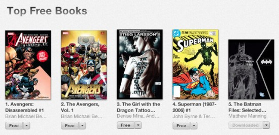 itunes freebies comic books
