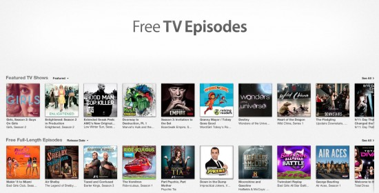 iTunes Freebies: TV Show Episodes