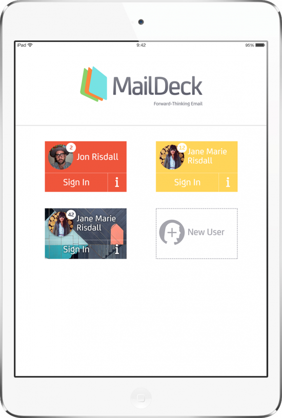 MailDeck supports multiple users