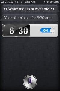 siri alarm