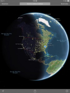 ios 7 hidden features apple maps globe view day night