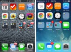 ios 7 home screen screenshot upgrade before after