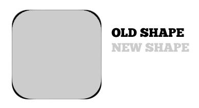 iOS 7 icon shape change