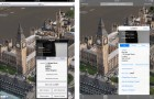 ios 7 maps flyover screenshot upgrade before after