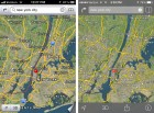 ios 7 maps satellite screenshot upgrade before after